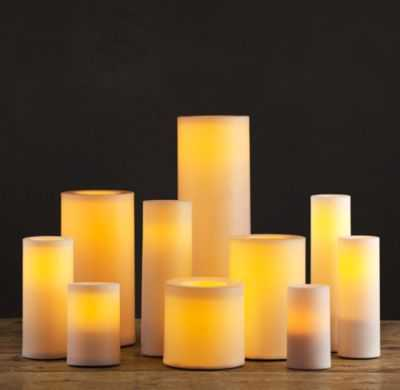 REMOTE CONTROL INDOOR/OUTDOOR FLAMELESS PILLAR CANDLE - RH