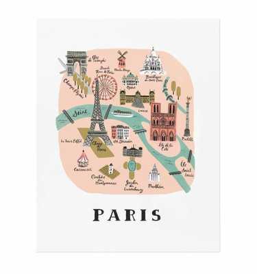 PARIS ILLUSTRATED ART PRINT, no frame - riflepaperco.com