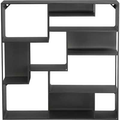 Industrial metal wall mounted bookcase - CB2