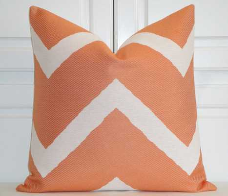 "Orange Chevron - Decorative Pillow - 20""sq. - Insert Sold Separately - Etsy"
