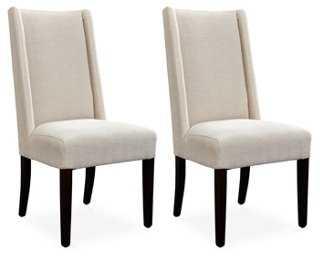 Cream Tribeca Side Chairs, Pair - One Kings Lane