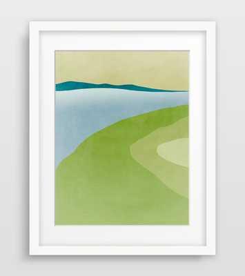Green Art Print - Abstract Landscape Painitng - 11x14 - Unframed - Etsy