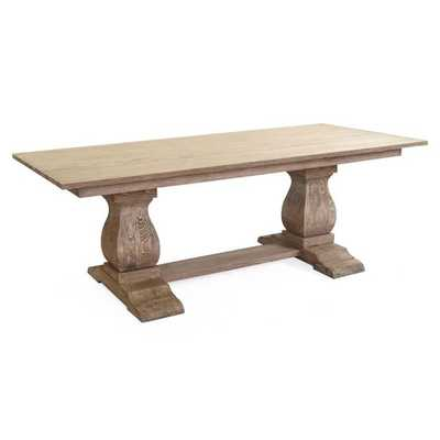 The Salem Trestle Solid Wood Dining Table - Overstock