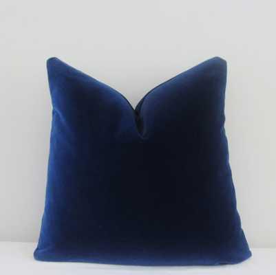 Midnight Blue Velvet Pillow Cover - 20x20 - Insert Sold Separately - Etsy