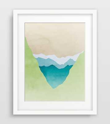 Green Art Print - Mountain Print - 11x14 - Unframed - Etsy
