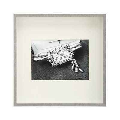 Brushed Silver 5x7 Wall Frame - Crate and Barrel