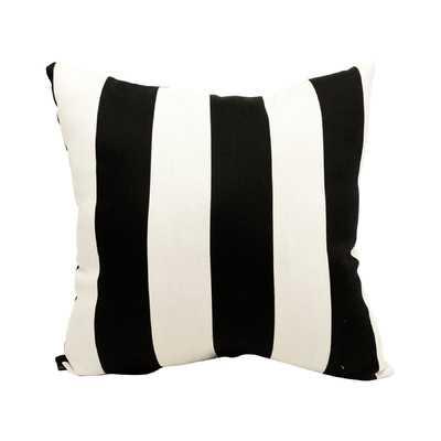 Minden Striped Indoor Outdoor Throw Pillow-20''x 20''-insert included - Wayfair