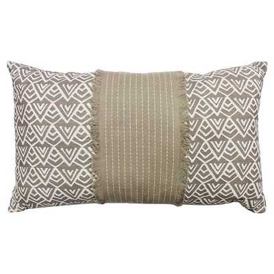 """Thresholdâ""""¢ Oblong Mountain Print Pillow Brown-24''X 14''-Insert inculded - Target"""