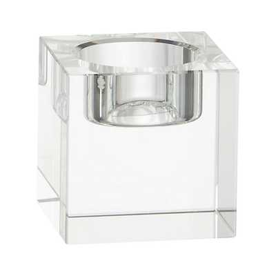 Oslo Small Crystal Tea Light Candle Holder - Crate and Barrel