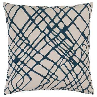 "Surya Lambrook Abstract Throw Pillow - 18"" x 18"" - Navy - Polyester insert - Target"
