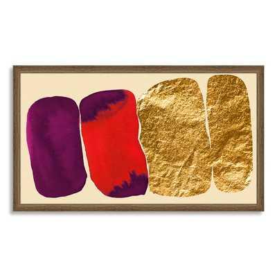 The Arts Capsule Ink Print - Modern Crimson - Framed - West Elm