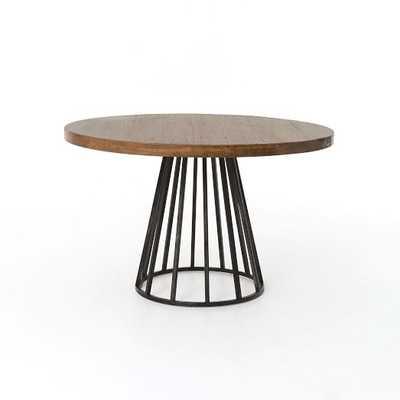 Copenhagen Reclaimed Wood Round Dining Table - West Elm