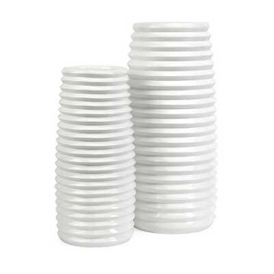 Daley 2 Piece Ribbed Vase Set by IMAX - AllModern