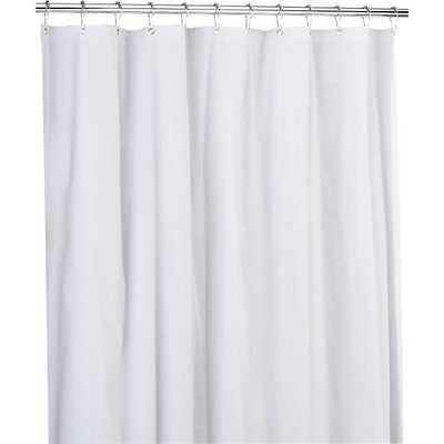 Peva white shower curtain liner - CB2