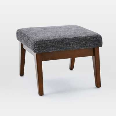 Faceted Wood Frame Ottoman - West Elm