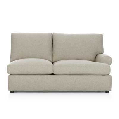 Ellyson Right Arm Loveseat - Gunsmoke - Crate and Barrel
