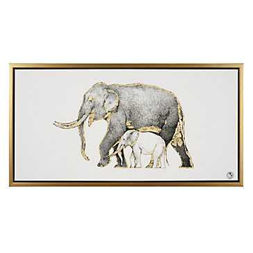 Gilded Elephant - 42''W x 22''H - Framed (Gold) - Z Gallerie