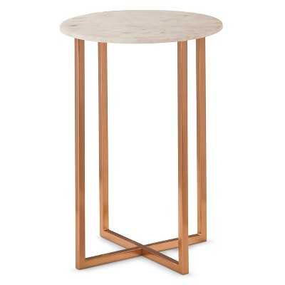 "Thresholdâ""¢ Copper Accent Table with Marble Top - Target"