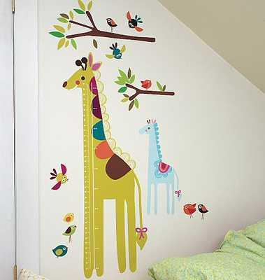 GIRAFFE WALL PLAY PEEL & STICK GROWTH CHART - CDK-Kids