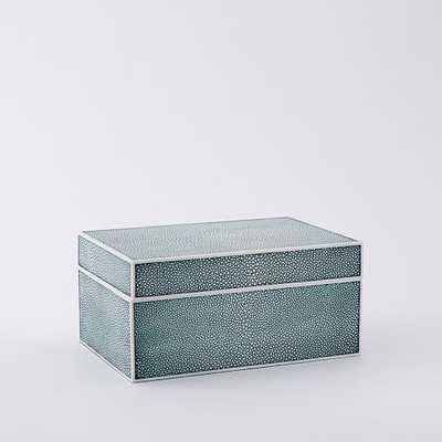 Faux Shagreen Box - Blue Lagoon - West Elm