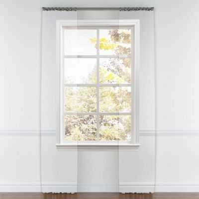 """Pinch pleat curtain - No Lining, 108""""L - Loom Decor"""
