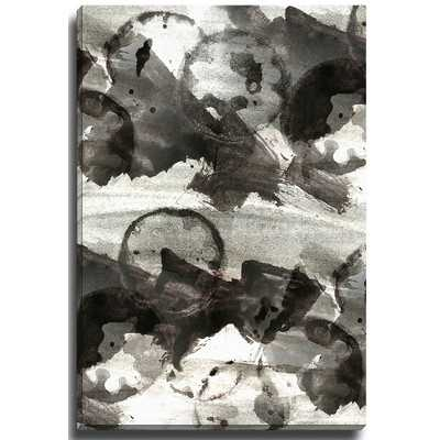"""""""Abstract Black and White"""" by Brenda Painting Print on Wrapped Canvas - Wayfair"""