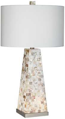Possini Euro Design Lorin Mother of Pearl Table Lamp - Lamps Plus