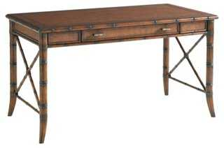Marianna Rattan Writing Desk, Amber - One Kings Lane