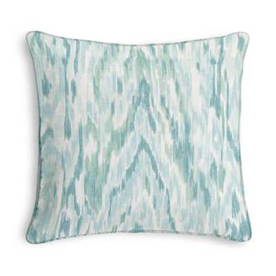 Aqua Dappled Watercolor Custom Throw Pillow - Domino
