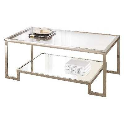 Steve Silver's Carol Chrome and Glass Cocktail Table - Target