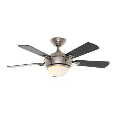 Brushed Nickel Indoor Ceiling Fan - Home Depot
