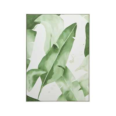 "Beverly Palms Print, 37.25""Wx51.25""H, White Frame - Crate and Barrel"