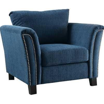 Omari Arm Chair in Dark Teal - Wayfair