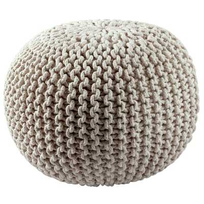 Cotton Rope Pouf - Overstock