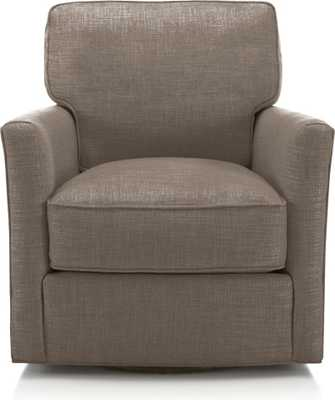 Talia Swivel Chair- Latte - Crate and Barrel