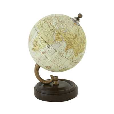 Simply Classy Wood Metal PVC Globe - Overstock
