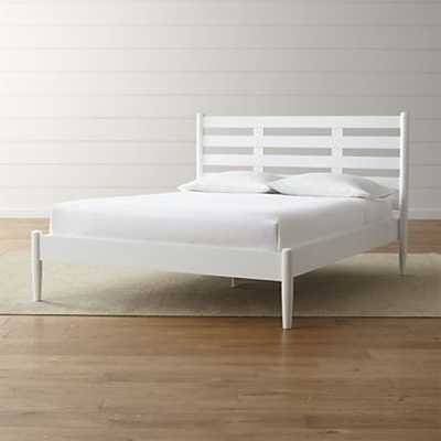 Barnes White Queen Bed. - Crate and Barrel