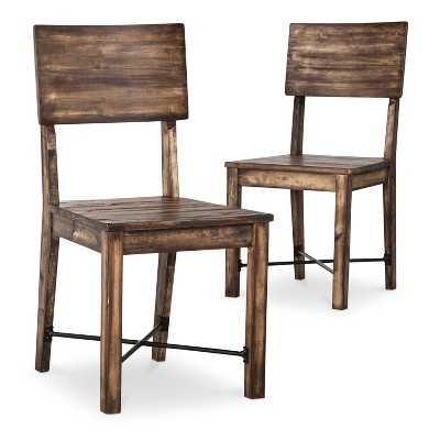 Perdana Dining Chair - Brown (Set of 2) - Target