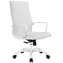 FINESSE HIGHBACK OFFICE CHAIR IN WHITE - Modway Furniture
