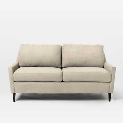 Everett Upholstered Loveseat - Brushed Heathered Cotton, Flax - West Elm