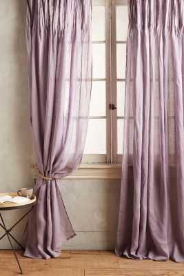 """Pinch-Pleat Curtain - Lavendar, 63"""" - Anthropologie"""