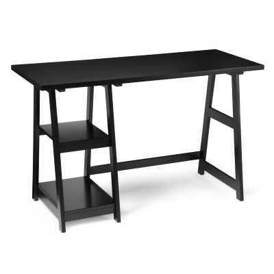 Convenience Concepts Designs2Go Black Trestle Desk - Hayneedle