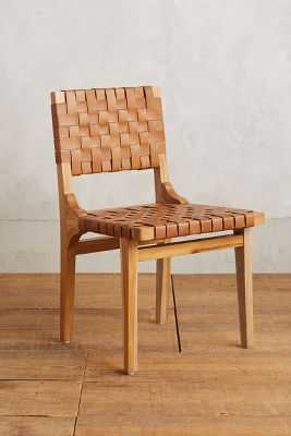Leather Loom Dining Chair - Tan - Anthropologie