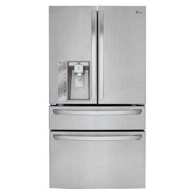French Door Refrigerator in Stainless Steel, Counter Depth - Home Depot