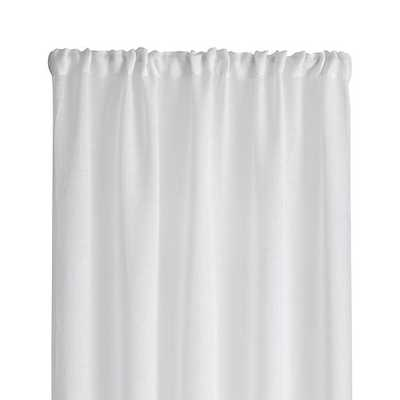"Linen Sheer 52""x96"" White Curtain Panel - Crate and Barrel"