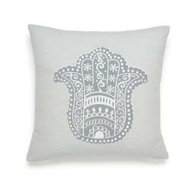"""Metamorphosis Hamsa Happiness Cotton Throw Pillow - 16"""" H x 16"""" W - Polyfill - Wayfair"""