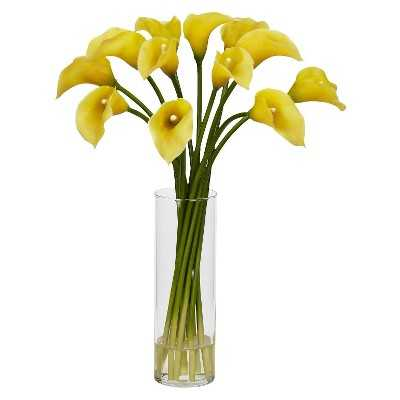 Nearly Natural Mini Calla Lily Silk Flower Arrangement - Target