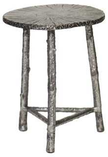 William Side Table, Weathered Nickel - One Kings Lane