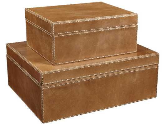 KENNAN LEATHER BOX SET - Curated Kravet