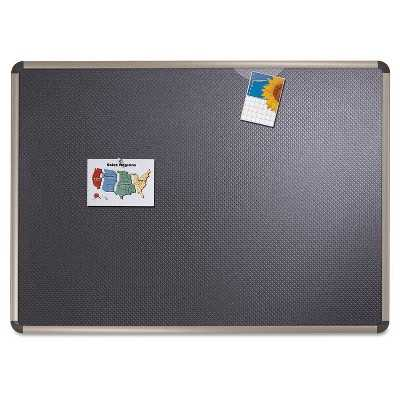 Quartet® Euro-Style Bulletin Board, High-Density Foam, 36 x 24, Black/Aluminum Frame - Target